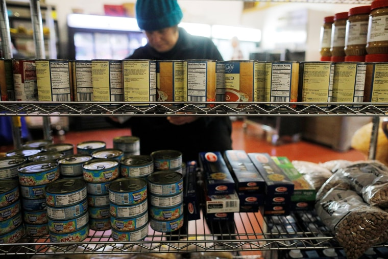 Image: Food products are available at Gather food pantry in Portsmouth
