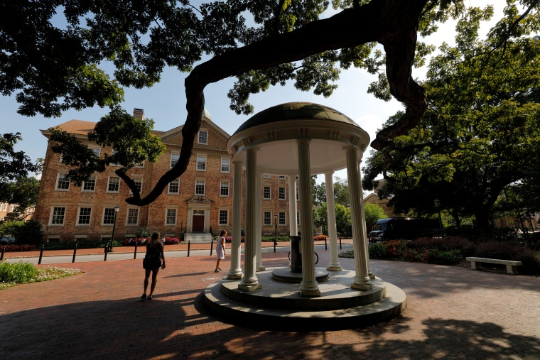 The iconic Old Well on the campus of University of North Carolina at Chapel Hill North Carolina