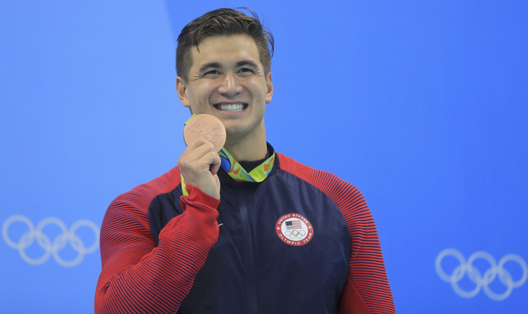 Olympic gold medal-swimmer Nathan Adrian