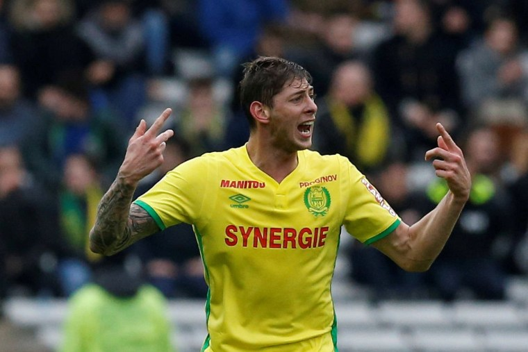 Image: Emiliano Sala plays for Nantes in 2017