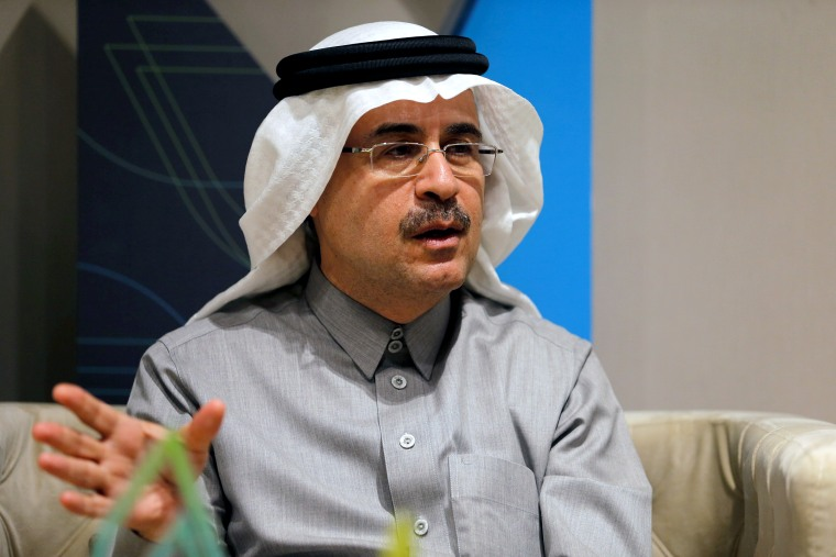 Image: FILE PHOTO: The chief executive of Saudi Aramco, Amin Nasser, speaks during an interview with Reuters in Dhahran