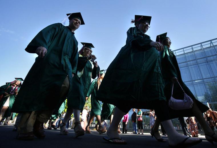 Image: Graduates, Cap and Gown