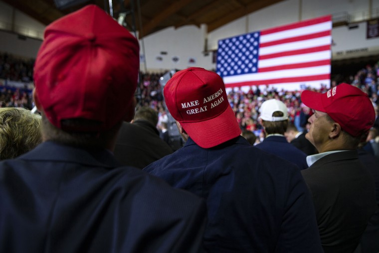 Image: The crowd at a campaign rally held by President Donald Trump in Richmond, Kentucky, on Oct. 13, 2018.