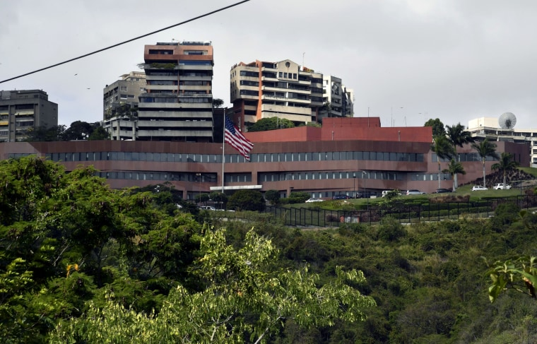 Image: The United States Embassy in Caracas, Venezuela, on Jan. 24, 2019.