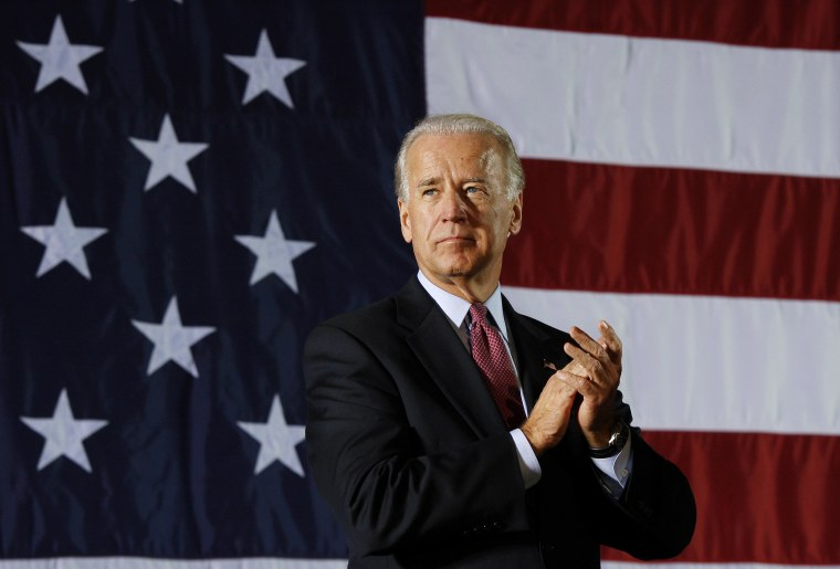 Image: Vice President Joe Biden at a campaign event in New Jersey on Oct. 19, 2009.