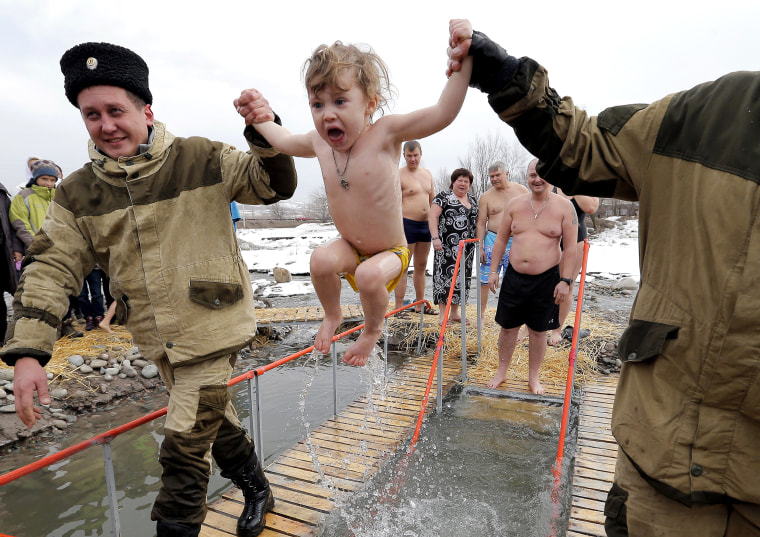 Image: Epiphany celebration in Kyrgyzstan