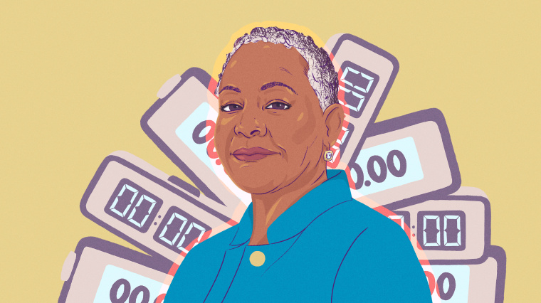Illustration of Lisa Borders.