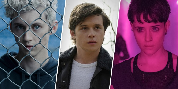 "From left, Troye Sivan in ""Boy Erased,"" Nick Robinson in ""Love, Simon"" and Claire Foy in ""The Girl in the Spider's Web."""