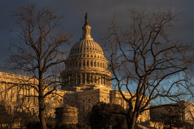 Image: The Capitol during the partial government shutdown in Washington on Jan. 24, 2019.