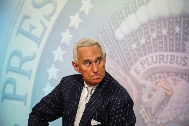 Image: Roger Stone at an interview in New York on May 12, 2017.