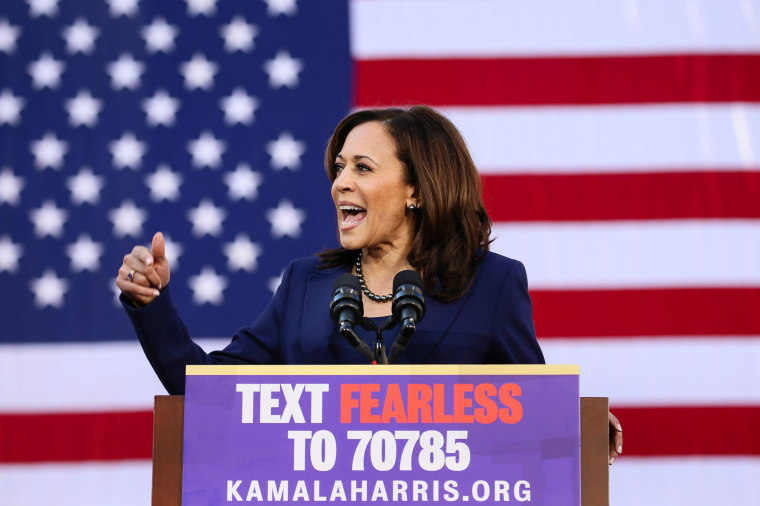 Sen. Kamala Harris, D-Calif., launches her campaign for President of the United States at a rall in her hometown of Oakland