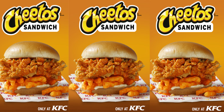 KFC is testing its new Cheetos Sandwich