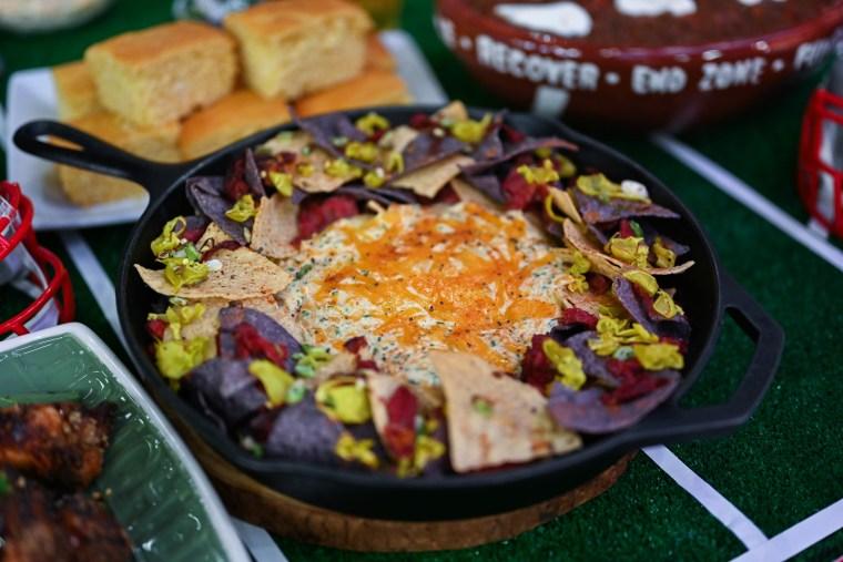 Joel Gamoran's Hot Thai Wings, Gartlic & Soy Sauce Guac, Boston Nachos, New England Crockpot Chili, Cauliflower Buffalo Dip
