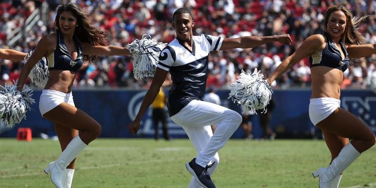 Male cheerleaders will make history at Super Bowl