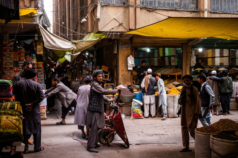 Image: Shoppers gather at the Mandai Bazaar in Kabul, Afghanistan.