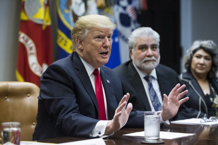 Image: US President Donald J. Trump hosts a roundtable meeting with Hispanic pastors in the Roosevelt Room of the White House
