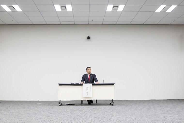 Image: Nissan Motor Co. CEO Hiroto Saikawa attends a press conference in Yokohama, Japan, on Dec. 17, 2018.