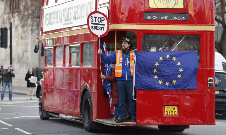 Image: Anti-Brexit protesters in London
