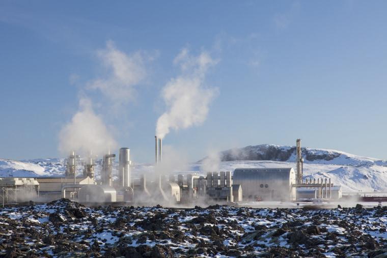 Image:  Svartsengi Power Station, geothermal power plant.