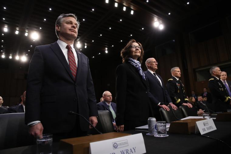 Image: Senate Intelligence Committee hearing