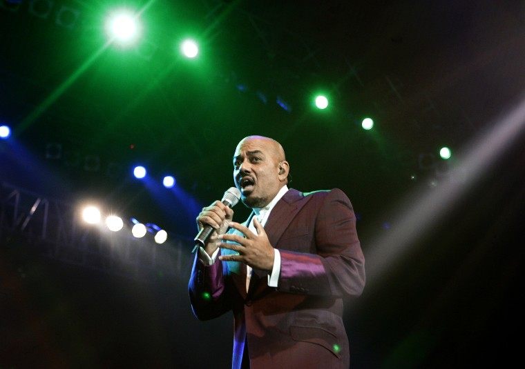 U.S. singer James Ingram performs during Java Jazz Festival in Jakarta