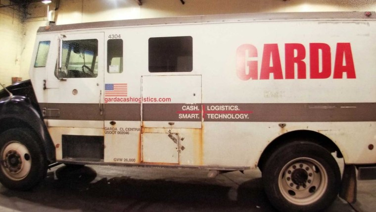 Image: The Garda armored truck was stolen by Mark Espinosa on Dec. 5, 2018.