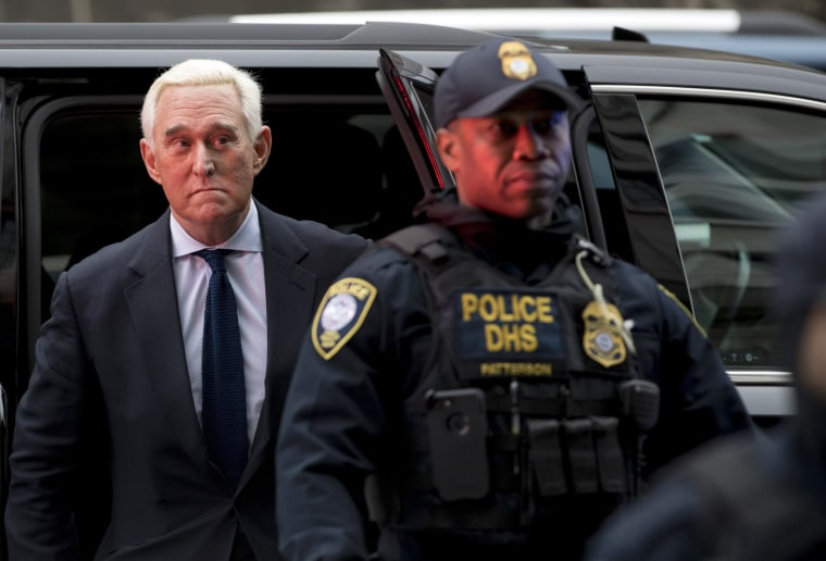 Image: Roger Stone arrives at Federal Court in Washington on Jan. 29, 2019.