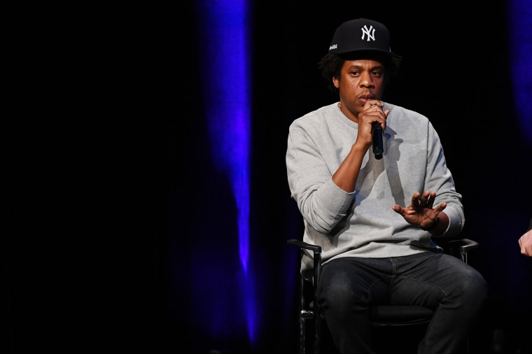 Image: Jay-Z speaks at John Jay College in New York on Jan. 23, 2019.