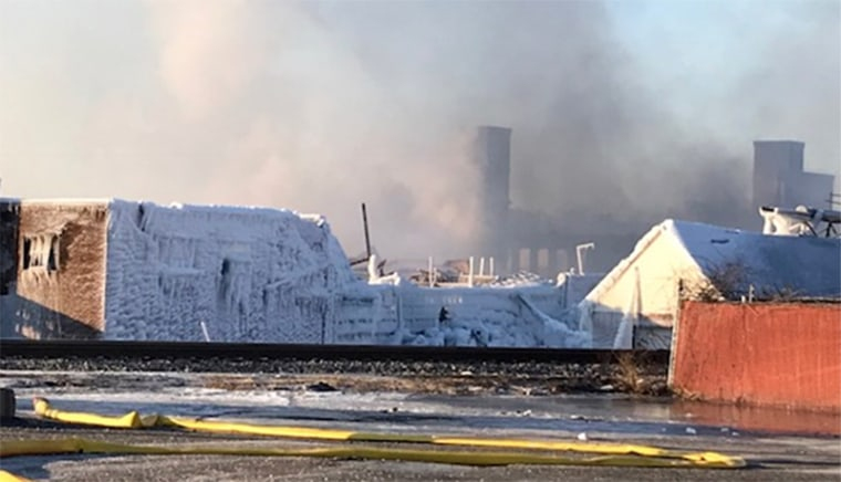 Image: Aftermath of Marcal Paper Mills factory fire