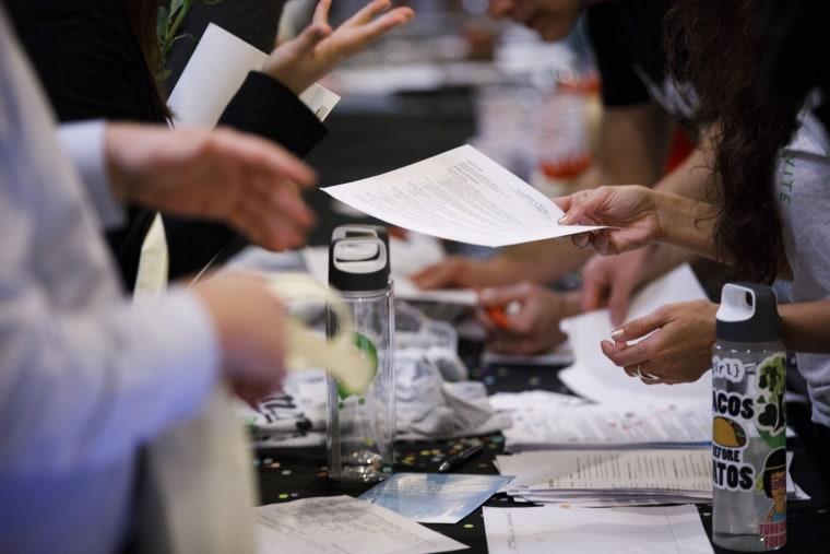 Inside A TechFair LA Career Fair Ahead Of Initial Jobless Claims