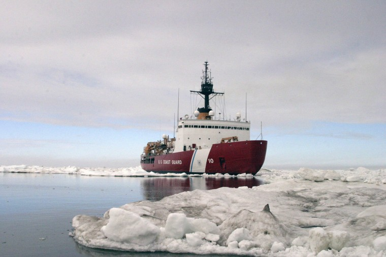 Image: Polar Star, the U.S. Coast Guard icebreaker, completes ice drills in the Arctic