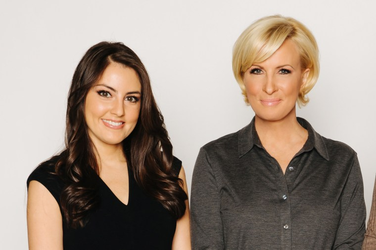 """Morning Joe"" co-host Mika Brzezinski and Know Your Value millennial contributor Daniela Pierre-Bravo."