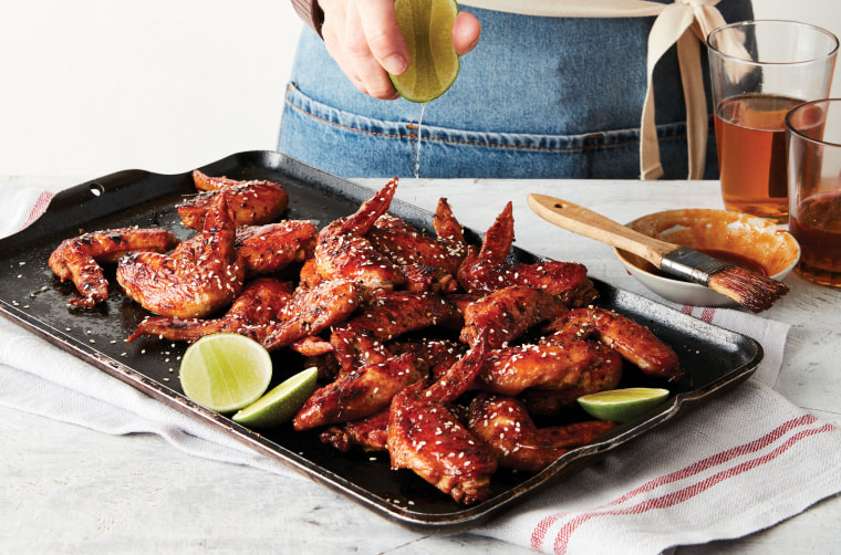 Just a two to four minutes under the broiler yields a crispy wing that's bursting with flavor.