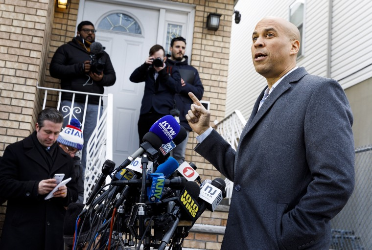 Image: Senator Cory Booker announces run for President