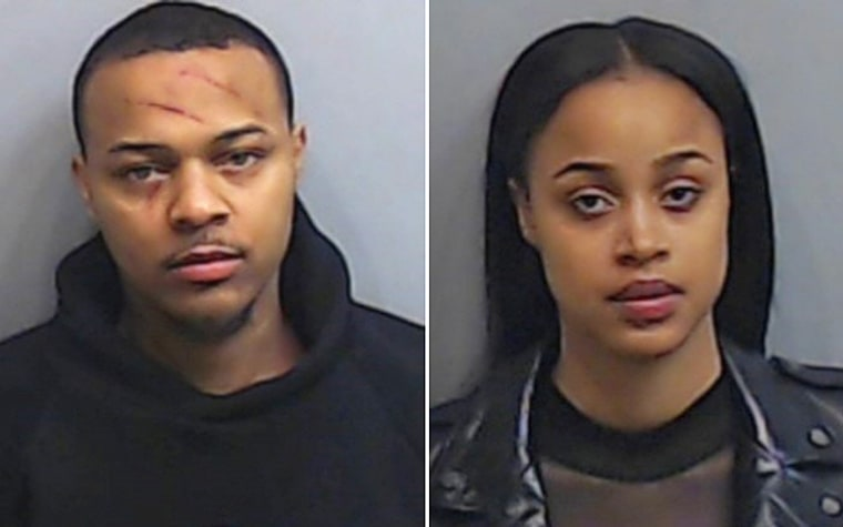 Shad Moss, also known as rapper Bow Wow, and Leslie Holden.