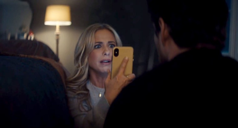Image: Sarah Michelle Gellar appears in a commercial for Olay that will air during the Super Bowl on Feb. 3, 2019.
