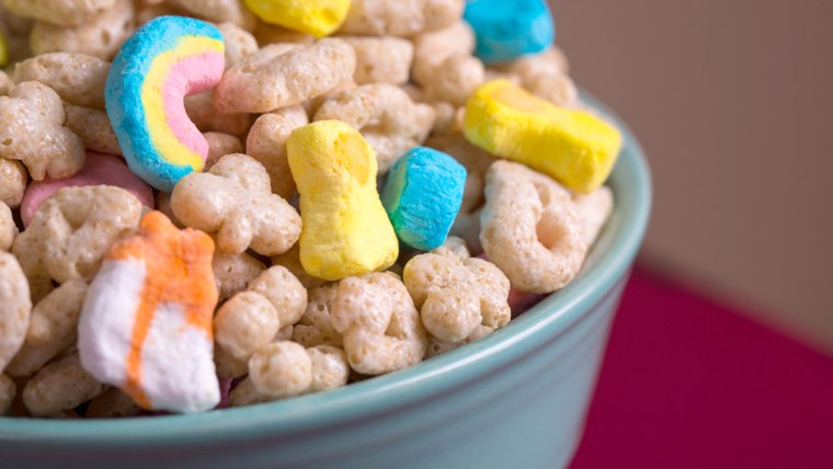 Lucky charms with marshmallows