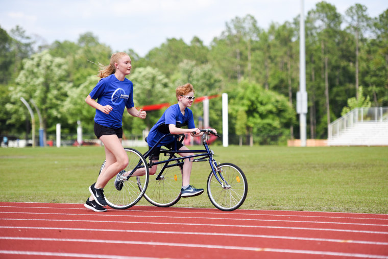 Sayers Grooms, an inspiring 13-year-old who's discovered joy in RaceRunning