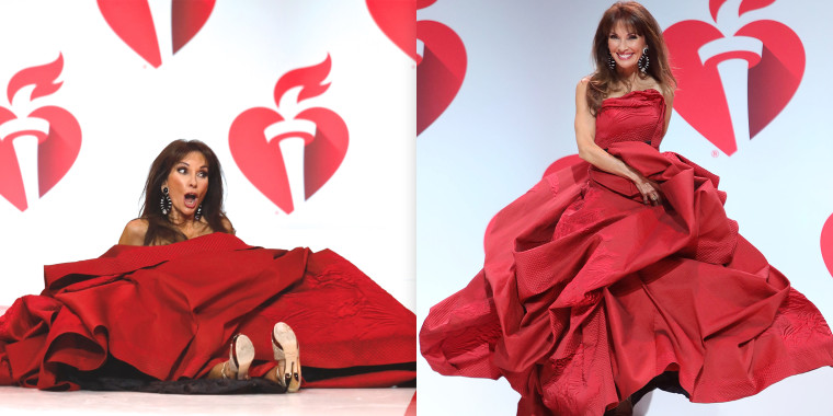 Susan Lucci shows grace after taking a tumble at fashion show