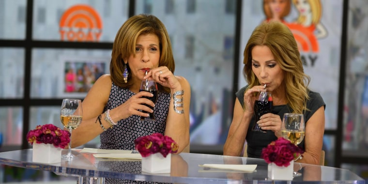 Kathie Lee Gifford and Hoda Kotb take a taste of Coca Cola's new flavor and can't guess what it is.