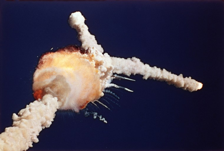 Image: Challenger explosion
