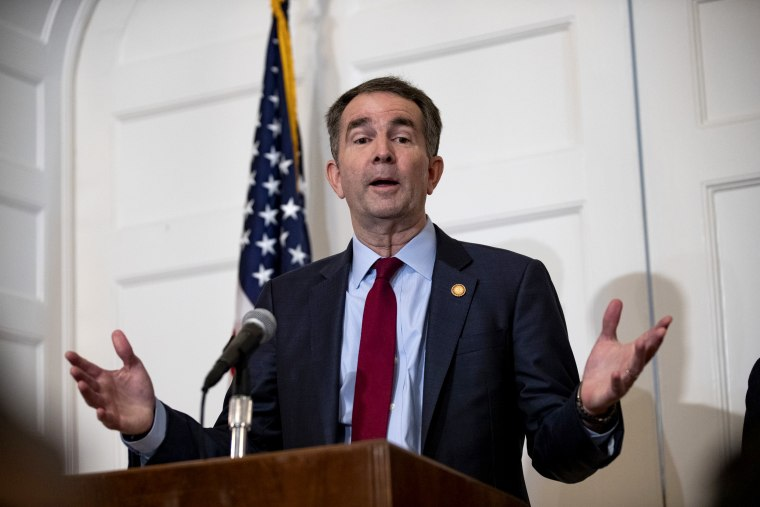 Image: Virginia Governor Ralph Northam speaks at a press conference in Richmond on Feb. 2, 2019.
