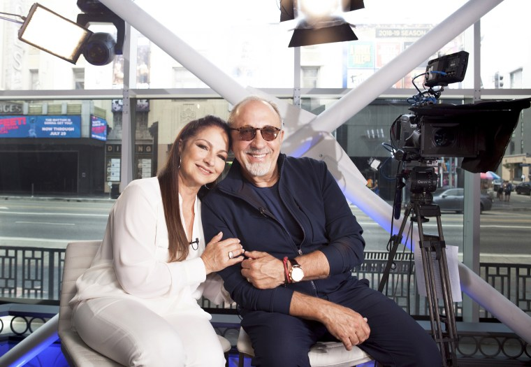 Image: Gloria and Emilio Estefan in Los Angeles on July 9, 2018.