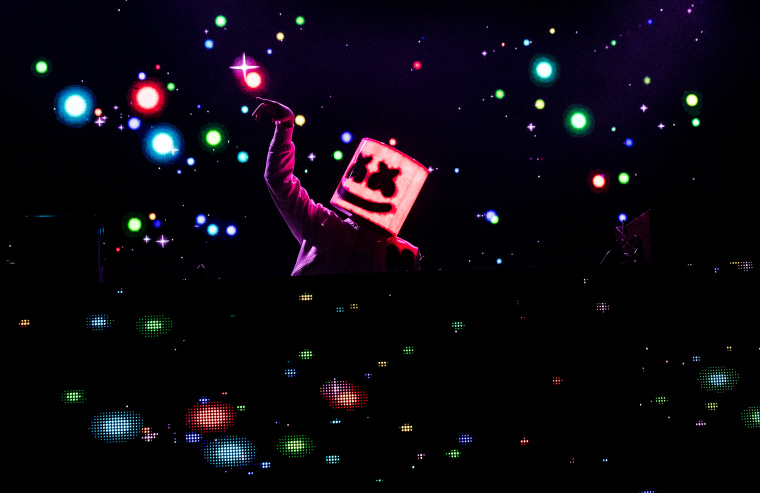 Image: Marshmello performs in New Orleans on Jan. 18, 2018.