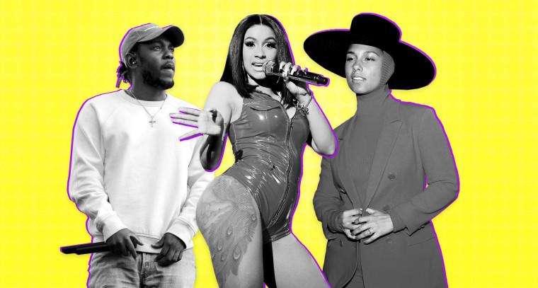 Image: Kendrick Lamar, Cardi B, Alicia Keys