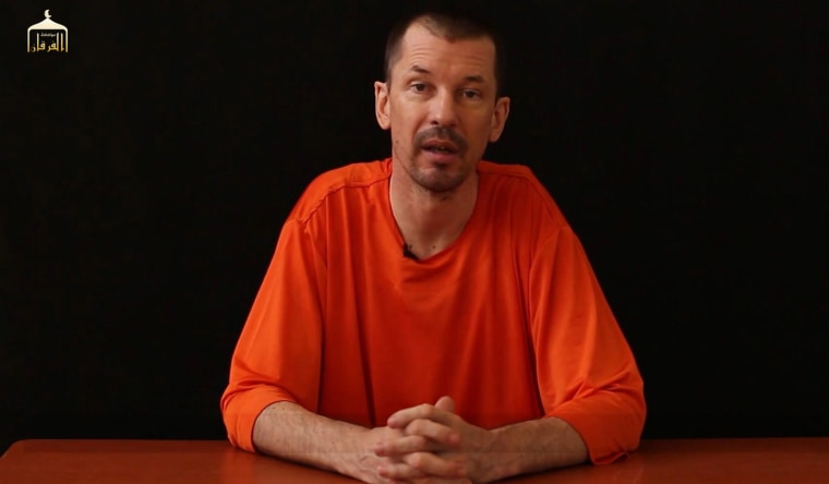 Image:  British freelance photojournalist, John Cantlie, at an undisclosed location in which he says he is being held captive