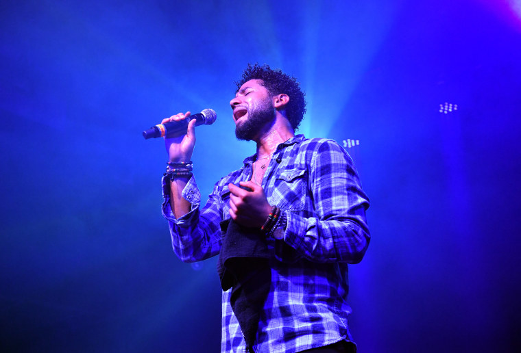 Image: Jussie Smollett performs in Atlanta, Georgia, on May 29, 2018.