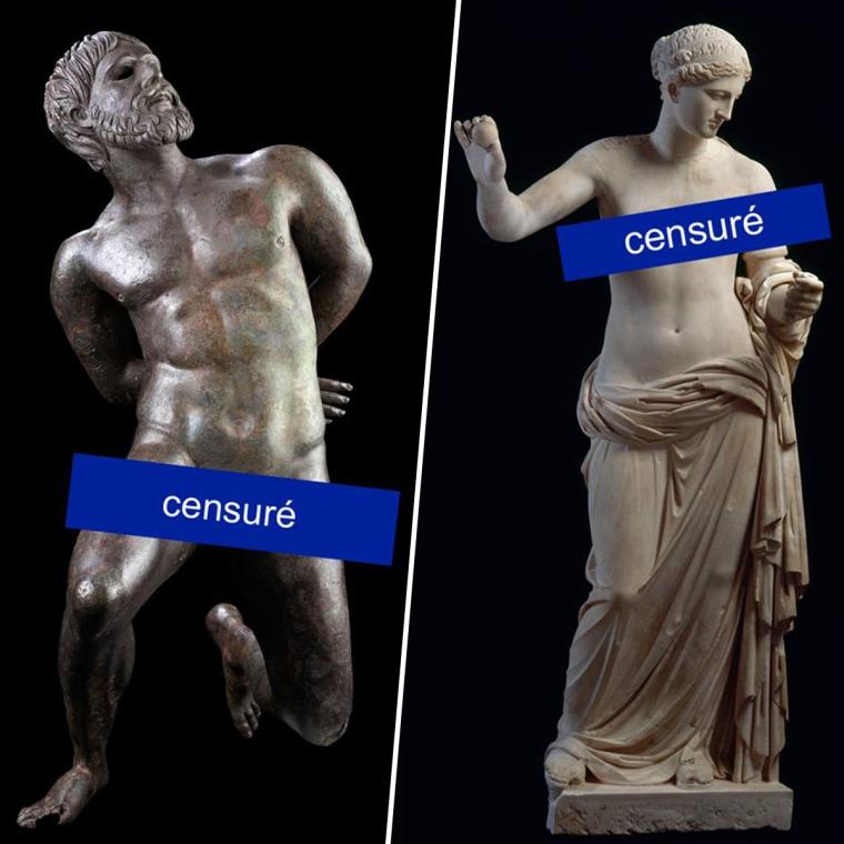 Facebook dijo el martes que, por error, impidió que el Museo de Arte e Historia de Ginebra usara imágenes de dos estatuas, una Venus de mármol y un hombre desnudo y de rodillas, para promocionar una próxima exhibición.