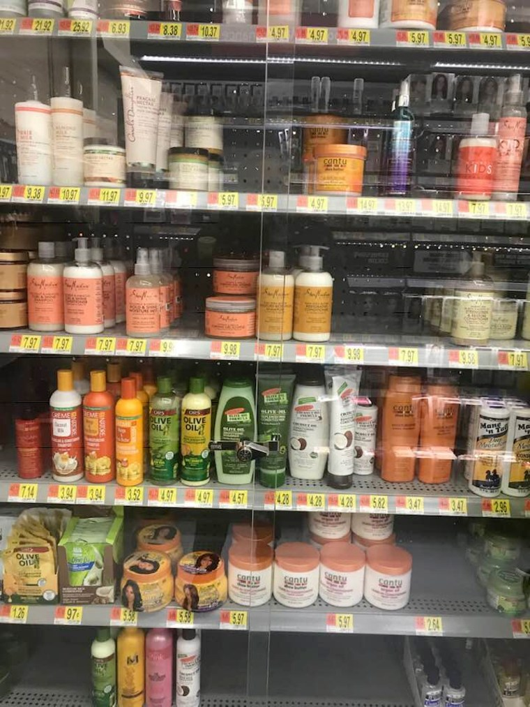 Image: Hair Products lock up