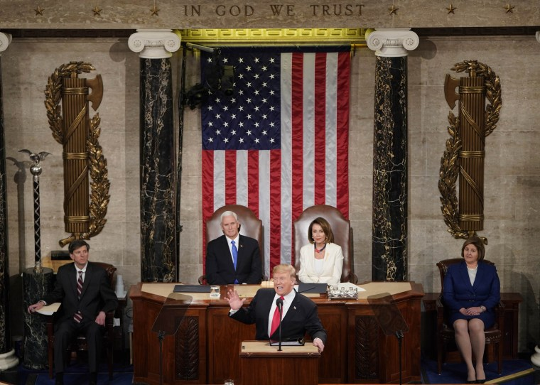 Image: U.S. President Trump delivers his second State of the Union address to a joint session of the U.S. Congress in Washington